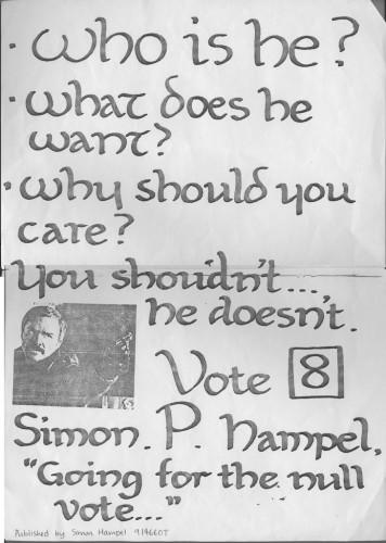 SAUA President Elections 1991