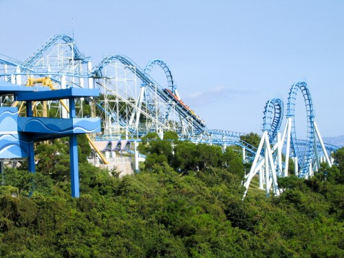 Roller coaster at Hong Kong Ocean Park
