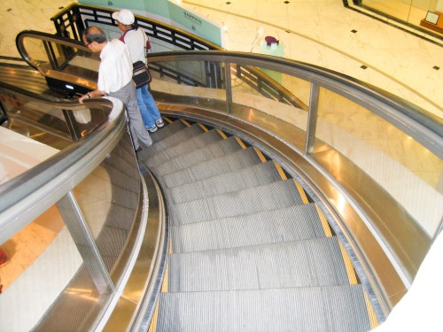 Curved Escalators!!