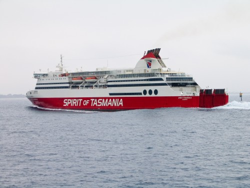 Spirit of Tasmania - as seen from Sorrento to Queenscliff Ferry - 2003