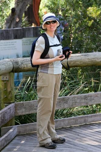 Leanne at Taronga Zoo