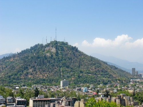 Cerro San Cristobal (as seen from Cerro Santa Lucia), Santiago