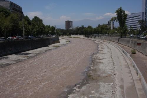 Rio Mapocho, Santiago, Chile