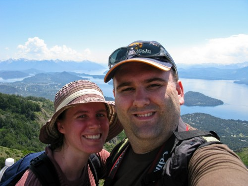 Simon and Leanne at Cerro Otto, near Bariloche, Argentina