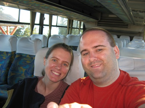 7:30am on the bus at Bariloche, ready for the Cruce de Lagos