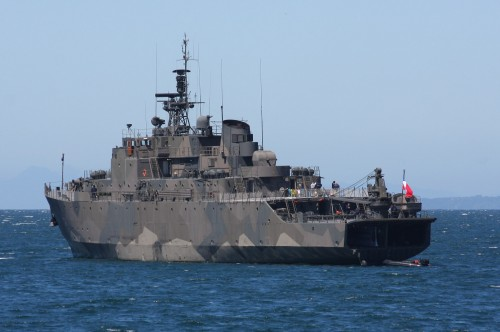 Chilean Warship at Puerto Montt