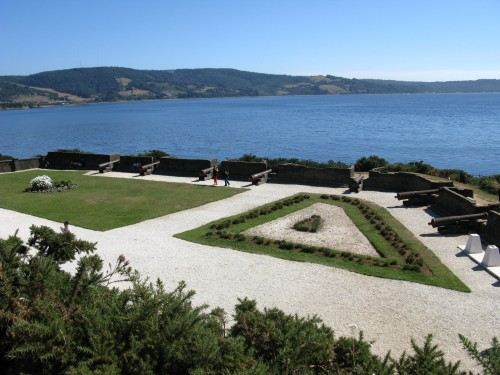 Spanish Fort built in 1770, Ancud, Isla de Chiloe, Chile