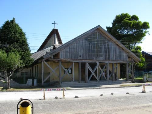 Catedral S.Carlos de Ancud, built in 1840, Ancud, Isla de Chiloe, Chile