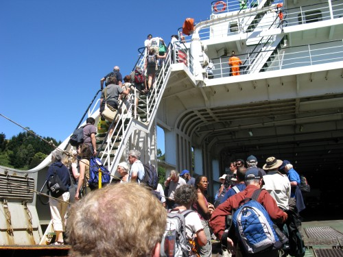 Boarding the Navimag - Puerto Montt, Chile