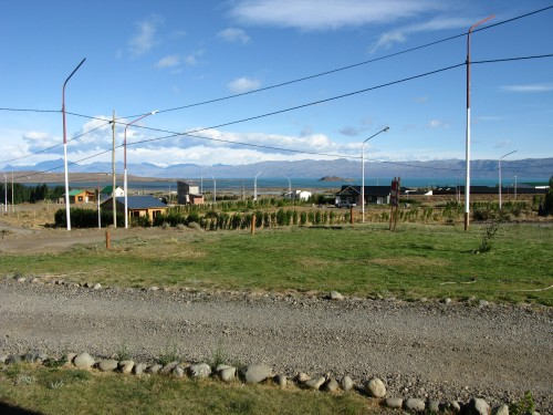 The view from our hostel room - Marcopolo Inn, El Calafate, Argentina
