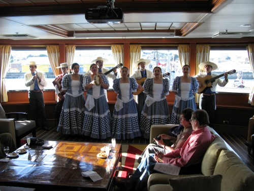 Welcome performance, MV Via Australis - Punta Arenas, Chile