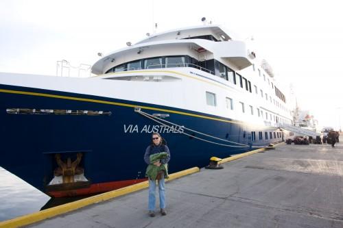 Leaving Cruceros Australis at Ushuaia