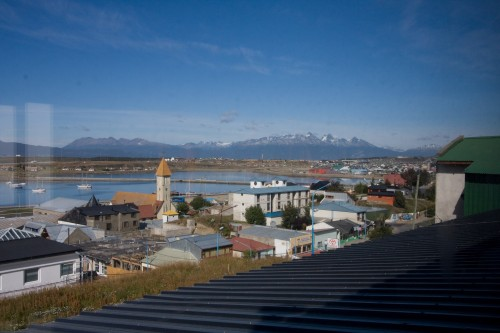 View from FreeStyle Hostel - Ushuaia, Argentina