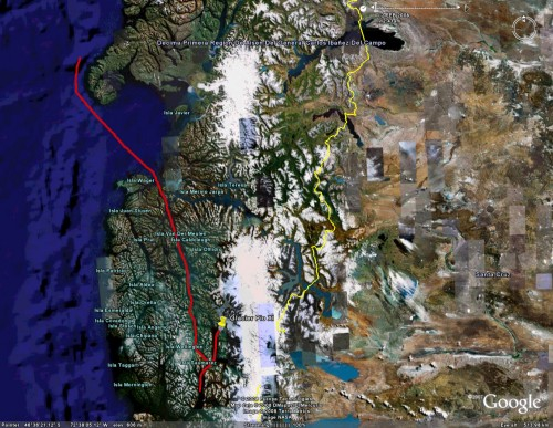 Navimag day 3 - Satellite View