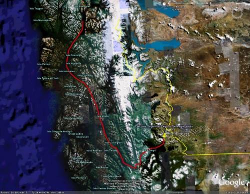 Navimag day 4 - Satellite View