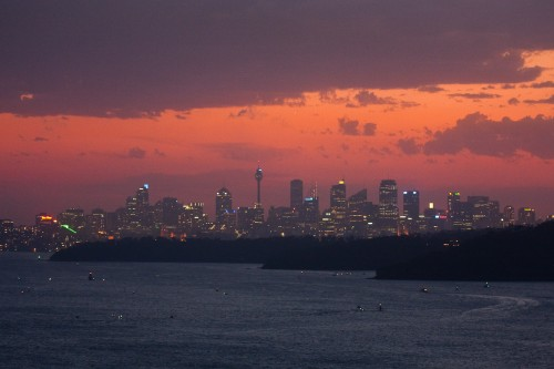 Sydney from North Head at Sunset