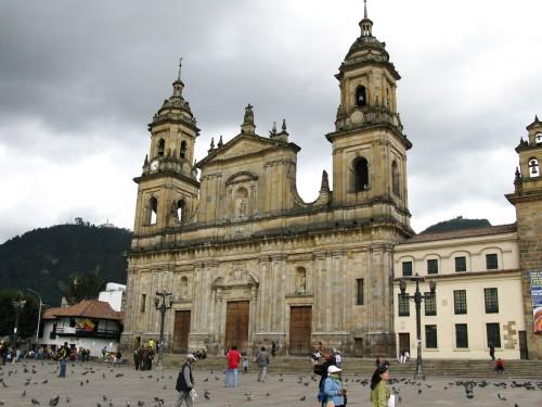 Catedral Primada next to Plaza de Bolivar - rebuilt in 1807