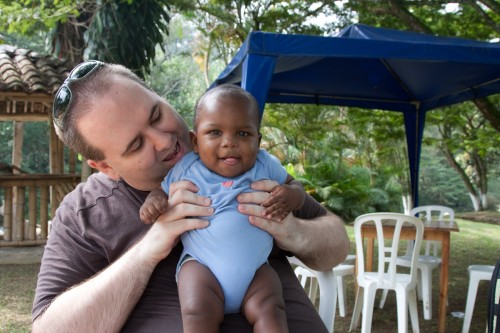 Simon and Andres near the Rio Pance