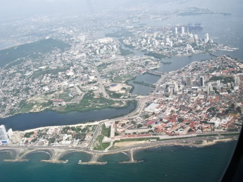 Flying over Cartagena