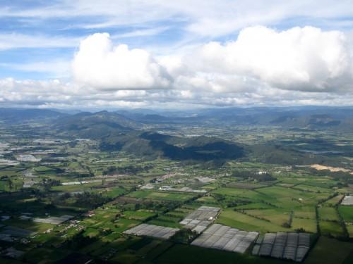 Flying into Bogota