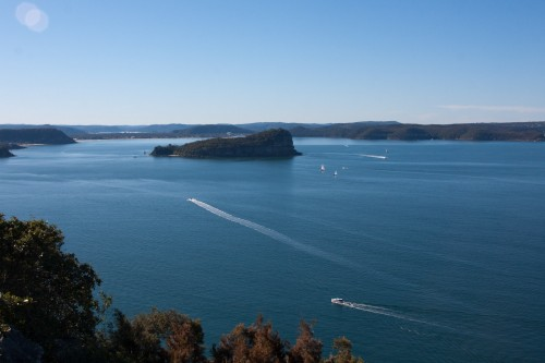 Looking across the Hawkesbury to Lion Island from West Head - Ku-ring-gai Chase National Park