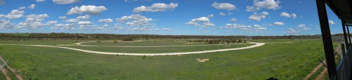 Lion enclosure panorama - Monarto Zoo