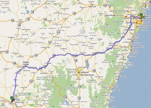 Albury to Sydney (via Wagga Wagga)