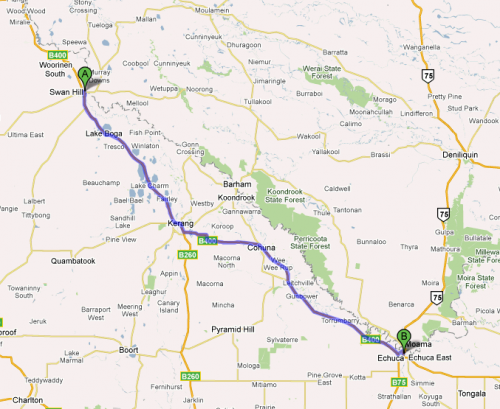 Swan Hill to Echuca